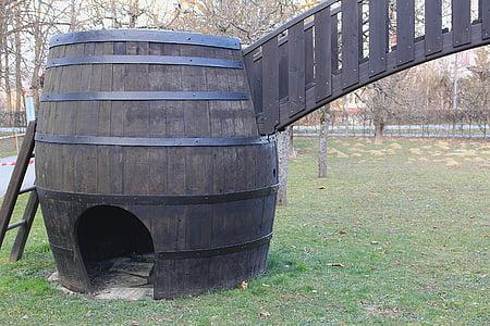 tonneau de vin, baril, tonneaux en bois