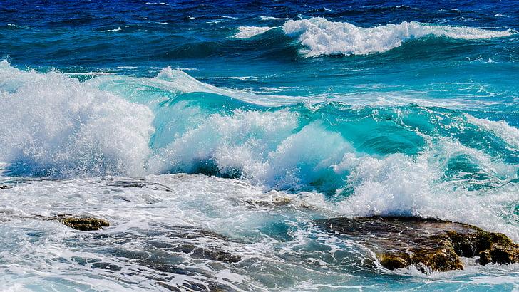 hullám, Lenyûgözõ, hab, spray, tenger, természet, szél
