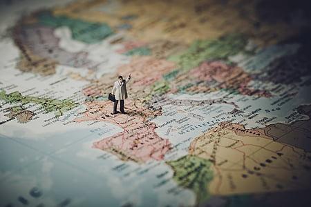 entelar, Cartografia, close-up, concepte, continent, país, destinació