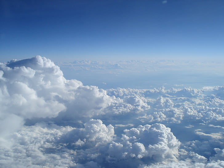 sky and clouds, ocean of clouds, landscape, clouds sky, flying over clouds
