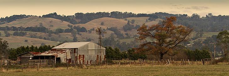 Trang trại mộc mạc, Victoria, Úc, Trang trại
