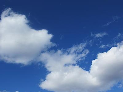 blauer Himmel, Wolke, blauer Himmel Wolken, Himmel, blauer Himmelshintergrund, Atmosphäre, Sommer