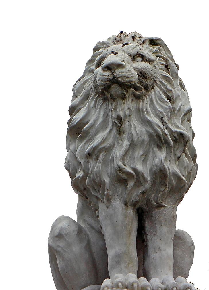 Lion, Portrait, sculpture, statue de, Figure, Pierre, sculpture sur pierre