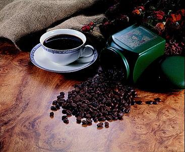 grans de cafè, cuina delicada, tassa