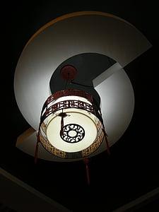 apgaismojums, Ķīna vējš, skaists, elektriskā lampa