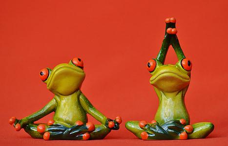жаби, фигура, Йога, гимнастика, Смешно, жаба, Грийн