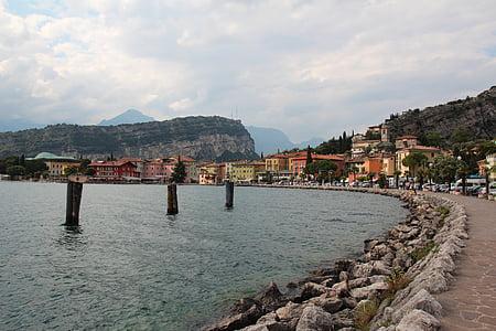 sétány, Olaszország, Torbole, séta, Garda, nyári