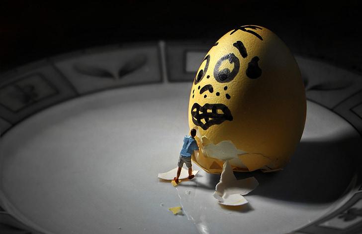 vajíčko, Velikonoční vajíčko, malí lidé, malí lidé