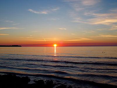 Alba, estand, Mar, sol, morgenstimmung, romàntic, llum de matí
