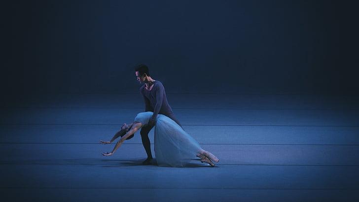 ballet, dans, Duo, kvinder, folk