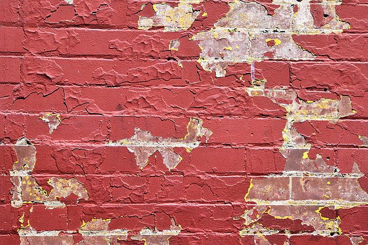 paret de Maó, fons, teló de fons, vell, grunge, textura, Maó