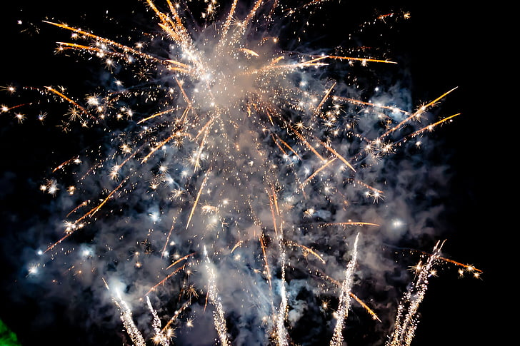 fireworks, night, sparklers, event, party, playful, firework - Man Made Object
