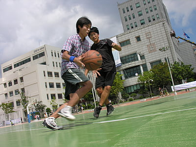 exercici, bàsquet, esport, gran poder, velocitat, pistes de bàsquet, Universitat Nacional de Pusan