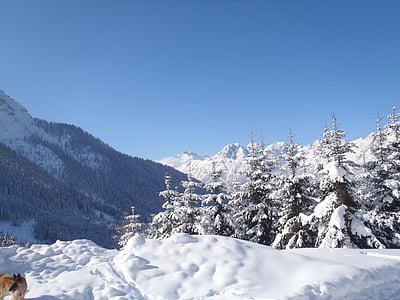 landscape, snow, nature, winter landscape, snowy, mountains