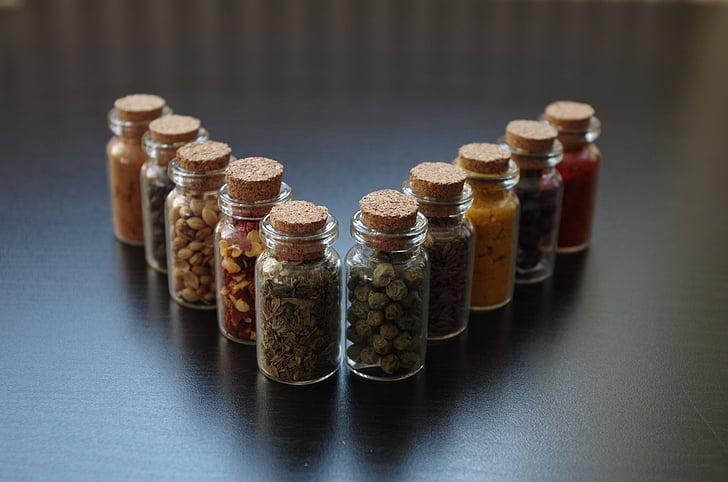pimenta, cozinhar, garrafa, especiaria, comida, tempero, pimenta - tempero