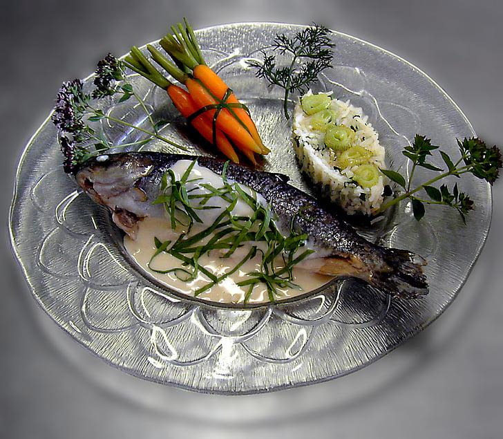 jõeforell, praad, forell, kala, Kohus, Gourmet, menüü