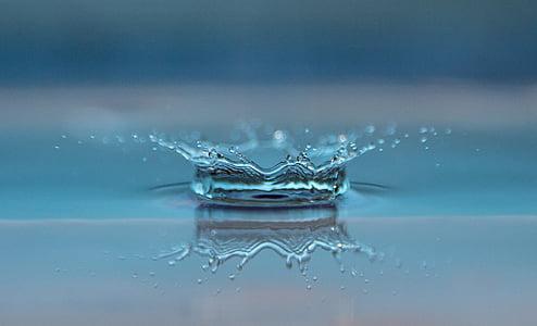 makronaredbe, odraz, štrcanje, Površina, vode, priroda, pad