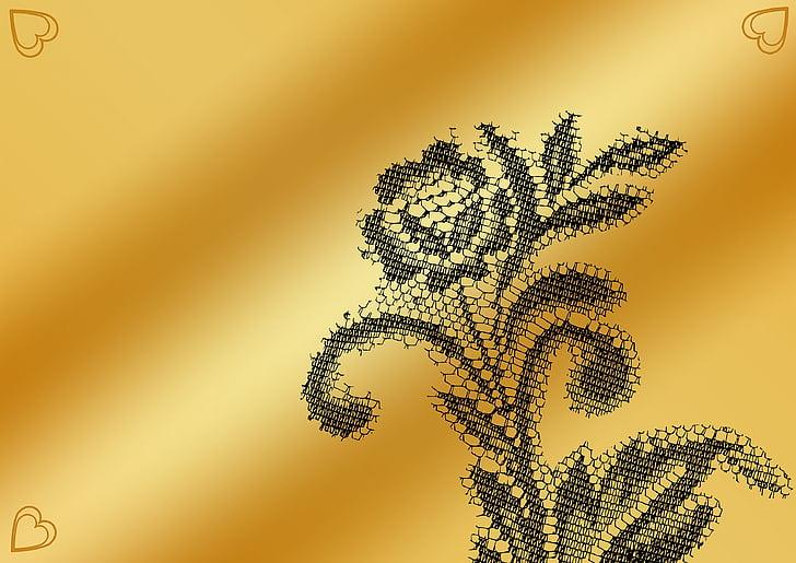 arrière-plan, modèle, fleur, design floral, Cordialement, coeur, arrière-plans