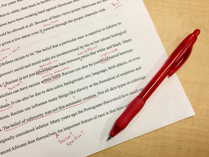 mistakes, editing, school, red ink, corrections, first draft, teacher