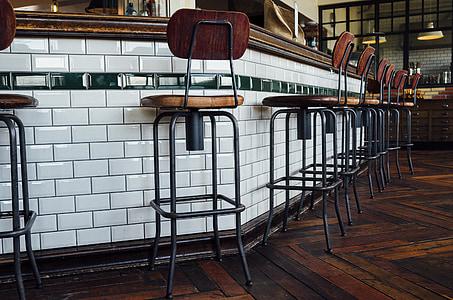 bar, counter, pub, chairs, restaurant, vintage, retro