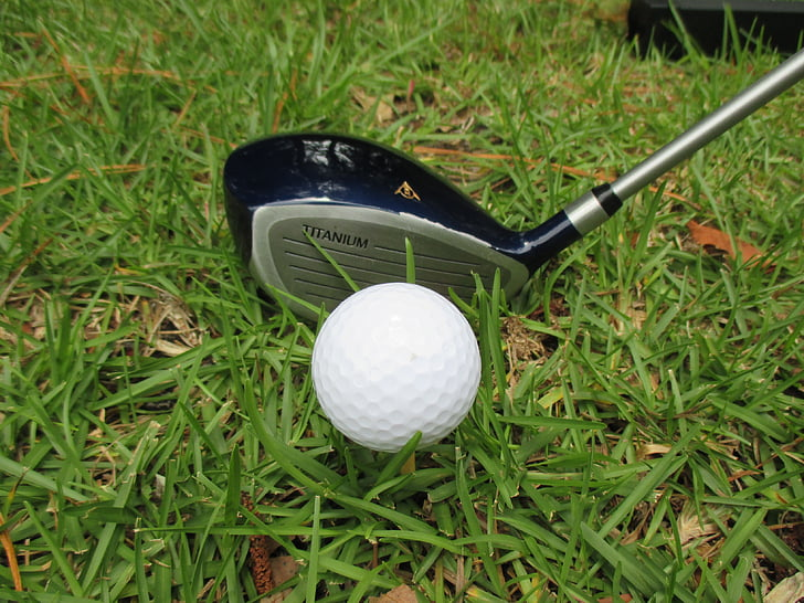 golf, club, golf club, grass, ball, golfing, equipment