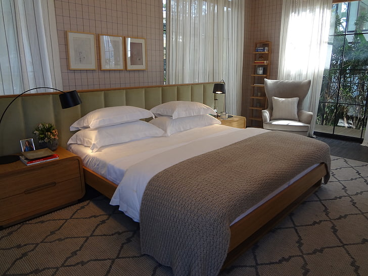 couple room, decoration, double bed, house color 2016, bedroom, bed, domestic Room