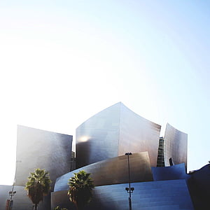 gray, concrete, high, rise, buildings, white, sky