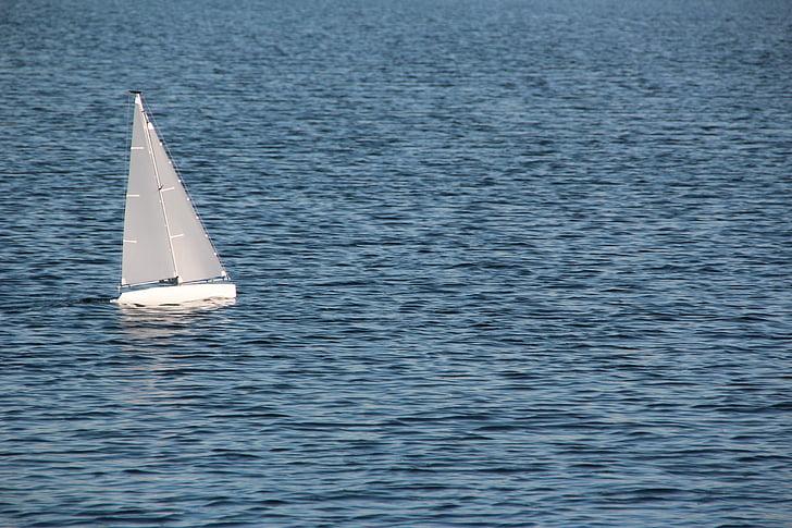 εκκίνησης, το μοντέλο βάρκα, απομακρυσμένη, μοντέλο πλοίου, ελέγχεται εξ αποστάσεως