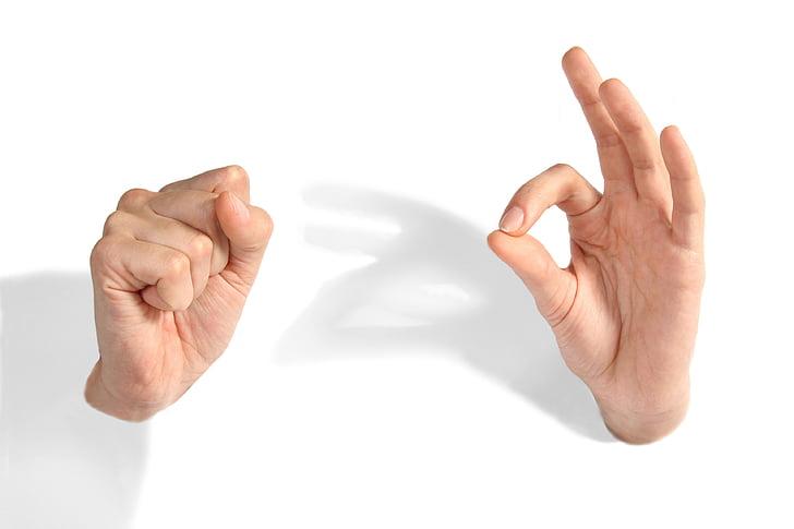 käed, Okei, minimalism, rusikas, naiste käed, käsi, inimese kehaosa