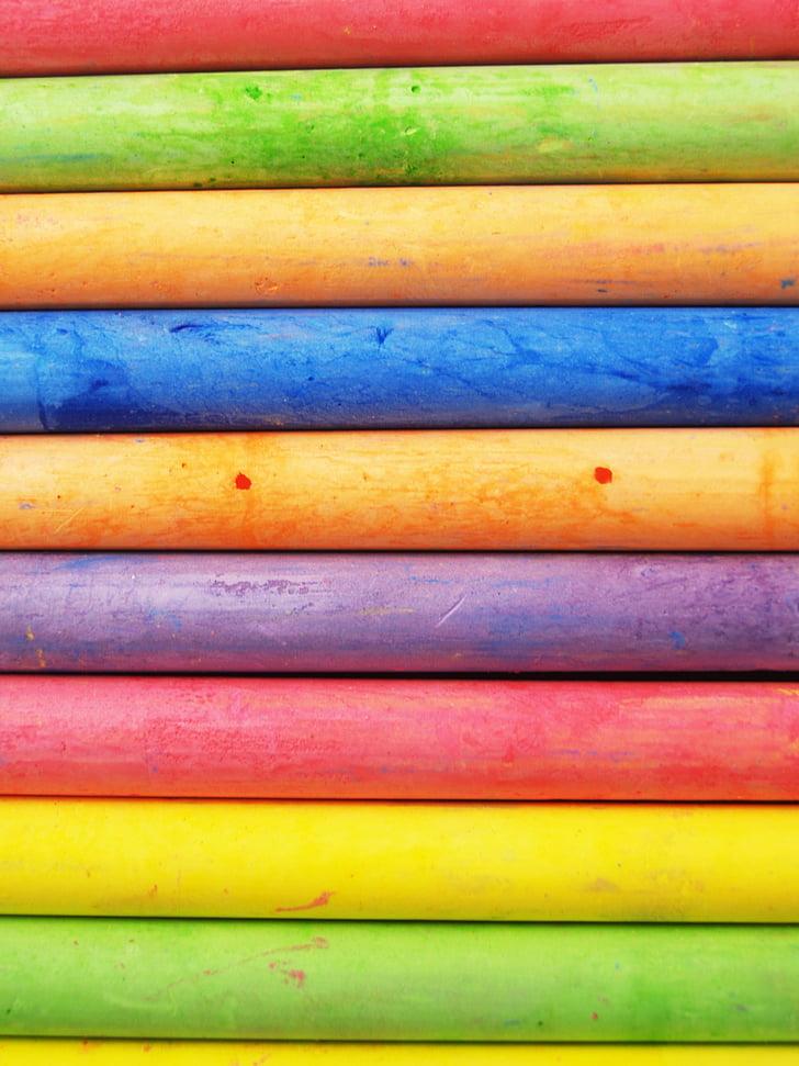krita, närbild, färgglada, färger, färgglada, färger, bakgrunder