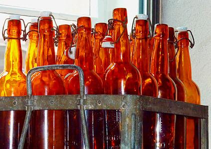 bierfles, flesje bier, bier, fles, glazen fles, knelpunt, alcoholische drank