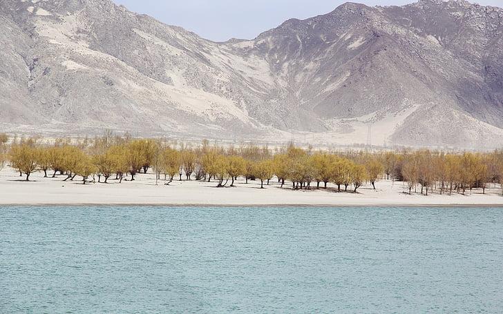 Lago, paisagem, montanha, natureza, ao ar livre, cênica, árvores