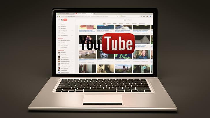 YouTube, portàtil, Llibreta, en línia, ordinador, tecnologia, Internet