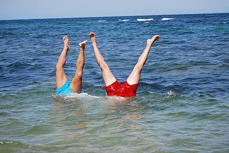 sea, sport, legs