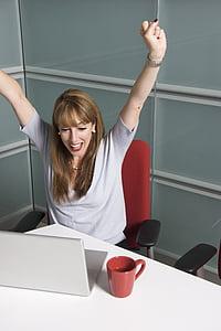 sievietes, koledža, students, biroja darbinieki, panākumi, Bingo, sieviete