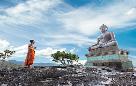 ancient, architecture, asia, background, bangkok, a blessing, boys
