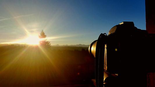 kaamera, Nikon, Sunrise, foto, Fotograafia, objektiiv, peegelkaamera