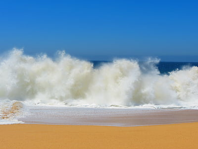 valuri crashing, Lover's beach, Mexic, Cabo, plajă, ocean, cer