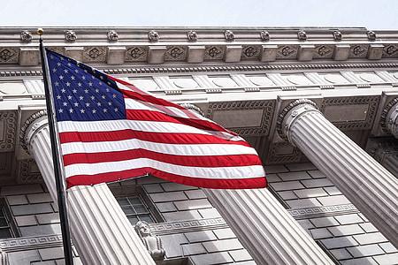Washington d, c, thành phố, đô thị, Hoa Kỳ, lá cờ, người Mỹ