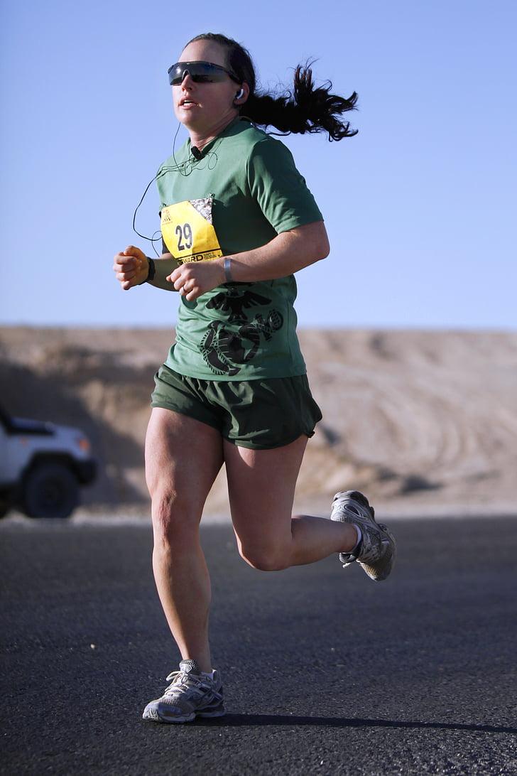 corredor de la, funcionamiento, larga distancia, gimnasio, mujer, Atleta, resistencia