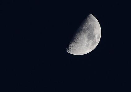 mesiac, noc, Sky, Kosák mesiaca, nočné foto