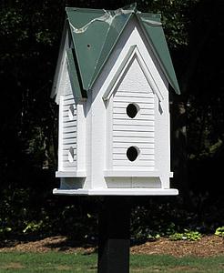 birdhouse, birds house, nest, white, birds, bird house