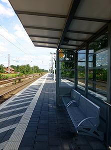 railway station, platform, seemed, railroad track, railway, rail traffic, gleise