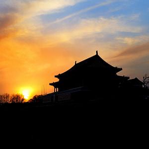 Museu del Palau Nacional, Temple, Pequín, posta de sol