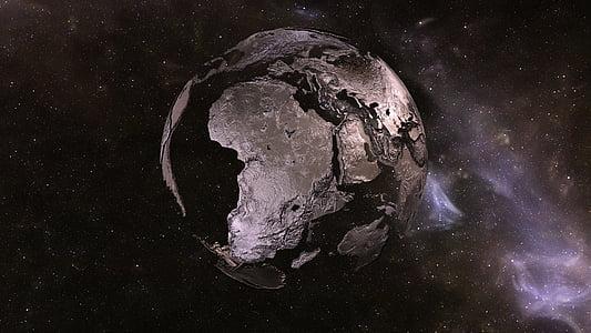 terra, terra, espai, planeta, univers, continents, globus