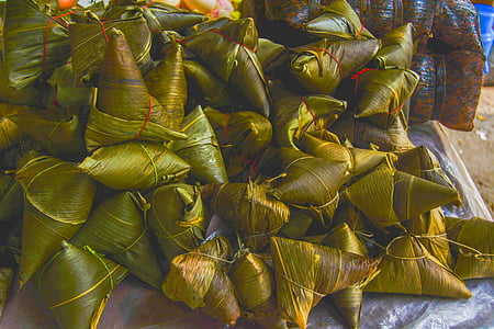 dragon boat festival, dumplings, pile, nature, leaf, food, backgrounds