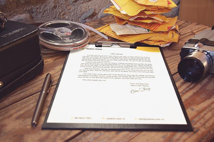 document, marró, fusta, taula, Oficina, treball, àrea de treball