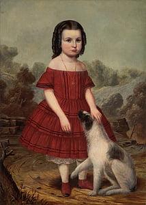จอห์น hegler, สาว, เด็ก, หญิง, สุนัข, ภายนอก, ศิลปะ