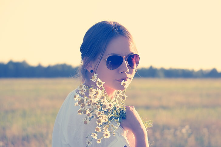 nen flors, hippy, flor de persones, flor-nen, noia, dona, bonica