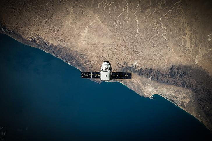 white, satellite, technology, aeronautics, space, travel, ship